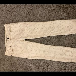 Low rise off white jeans